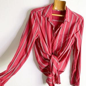 ☕️Beachlunchlounge stripe buttondown collar shirt